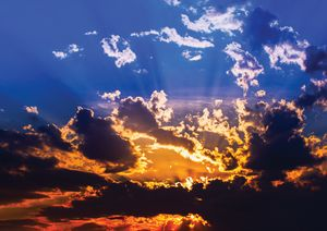 Light Through Clouds Fine Art Print