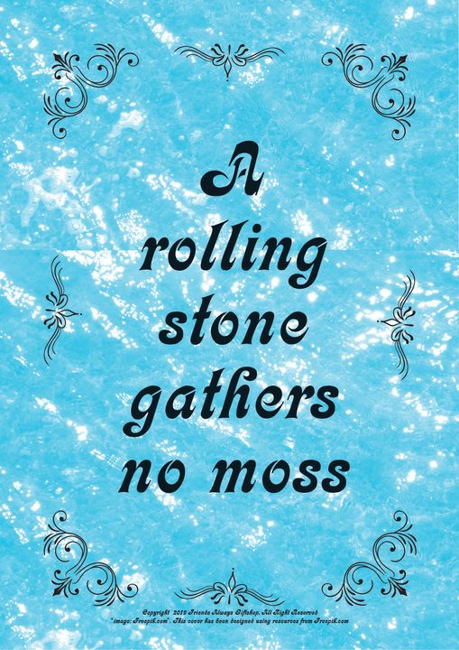 019 A rolling stone gathers no moss - Friends Always Giftshop