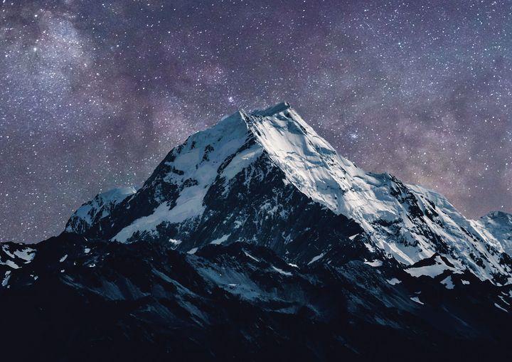 Stars Over Mountain Fine Art Print - Friends Always Giftshop