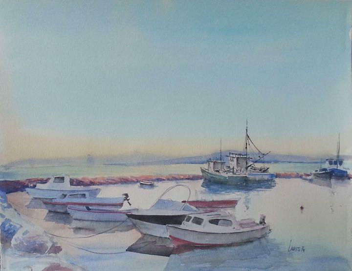 Morning harbor - Laris