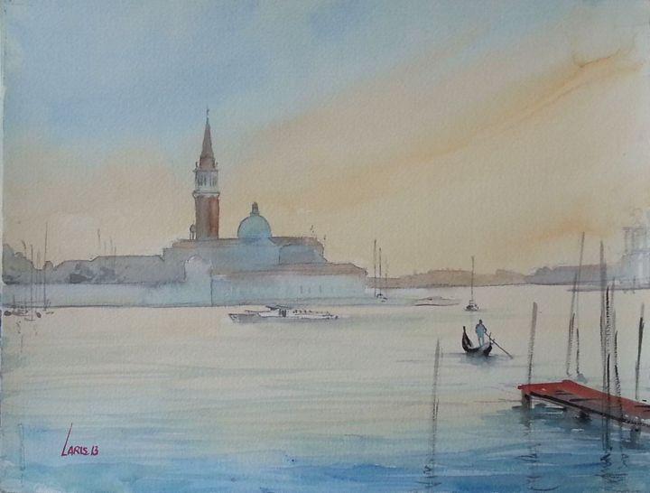 Sunset over gondola - Laris