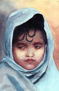 Boy in Shawl