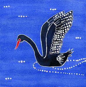 """Black Swan - Wiradjuri """"dhundhu"""""""