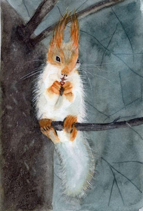 Fox Squirrel - Vicki B Littell