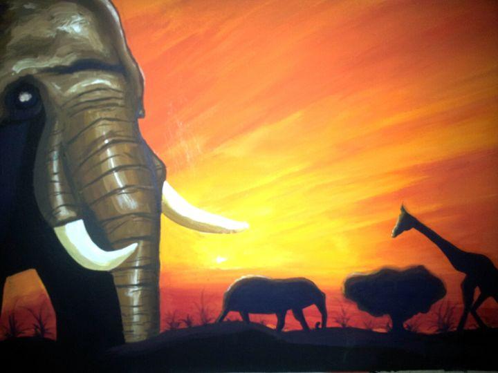 The Giant elephant - afrik art