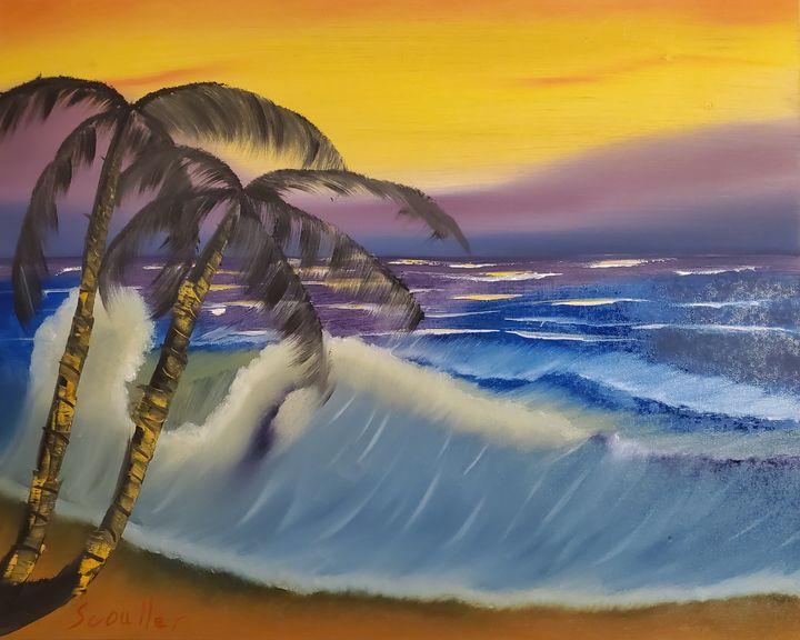 A Sunset Dip - Scouller Art