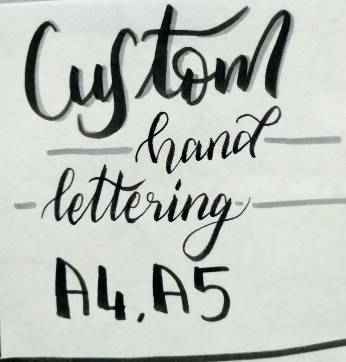 Custom lettering - Wani
