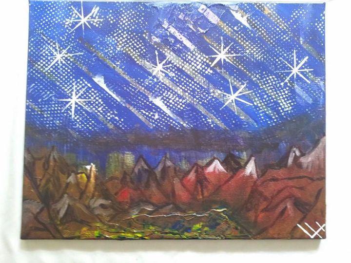 Mountain Top (Original) - Lucas' Abstract Paintings