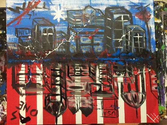 Corporate America - Lucas' Abstract Paintings