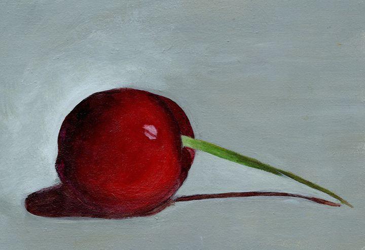 Acrylic Cherry Still Life Painting - Julianna Watkins