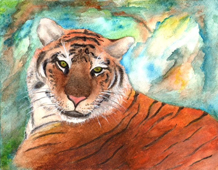 Siberian Tiger Watercolor Painting - Julianna Watkins