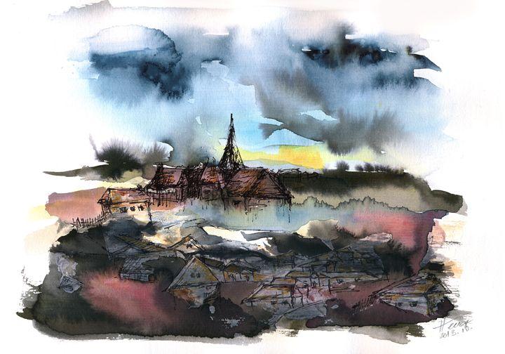 The sinking village - Aniko Hencz art