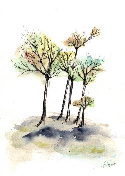 Autumn trees 2 - Aniko Hencz art