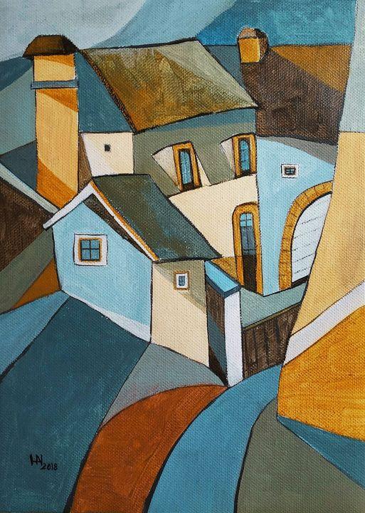 The steep street - Aniko Hencz art