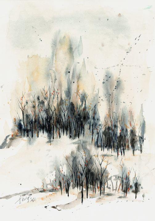 Frosty Winter Day - Aniko Hencz art