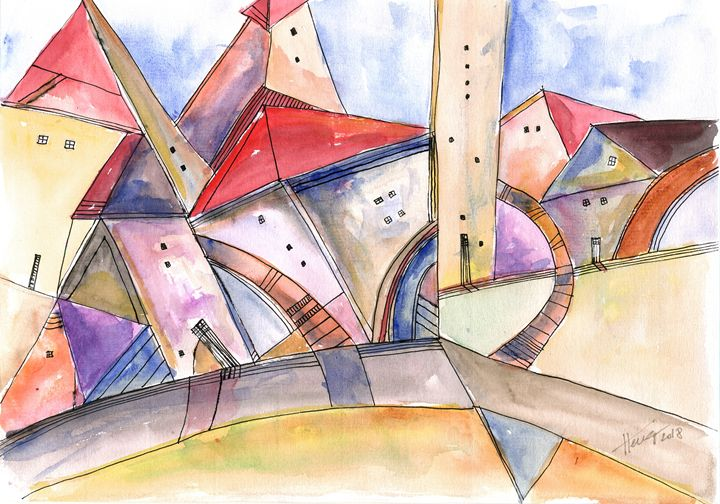 The neighborhood - Aniko Hencz art