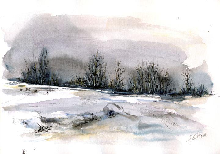 Winter landscape - Aniko Hencz art