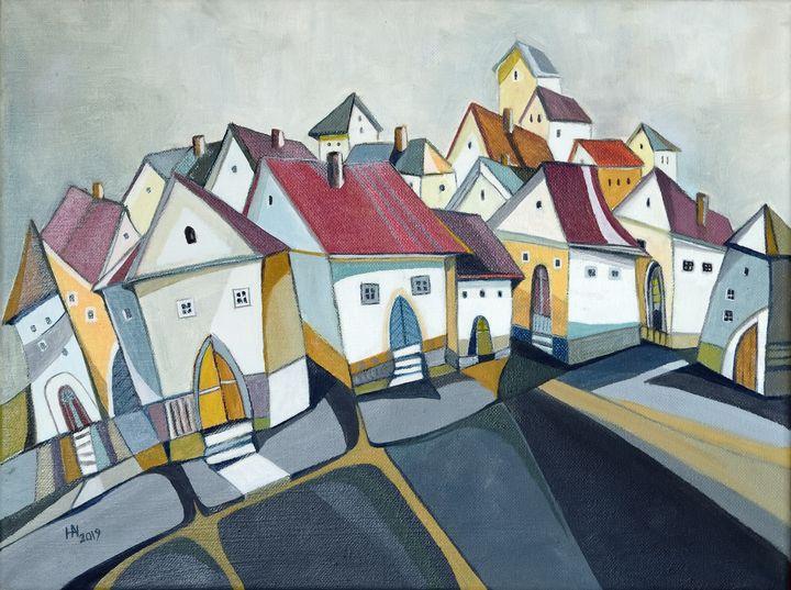 The placid town - Aniko Hencz art