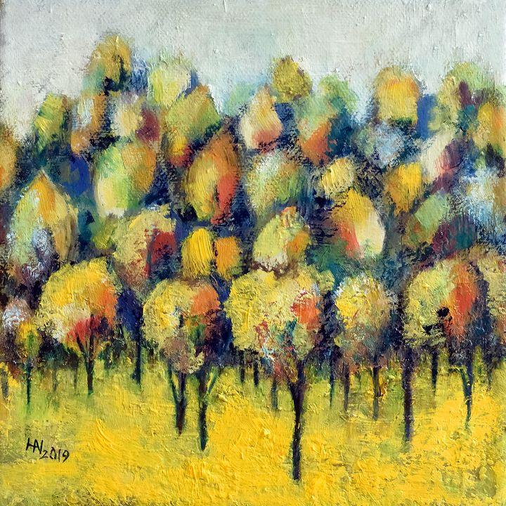 Orchard in autumn - Aniko Hencz art