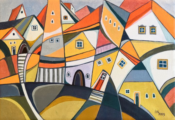 The bright side of the city - Aniko Hencz art