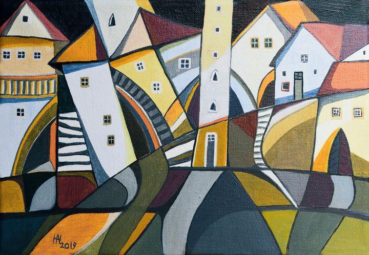 Suburban neighborhood - Aniko Hencz art
