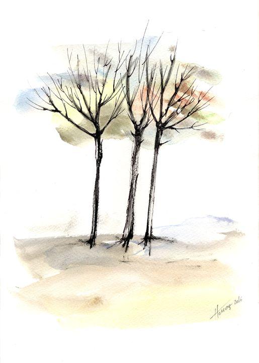 Autumn trees 3 - Aniko Hencz art