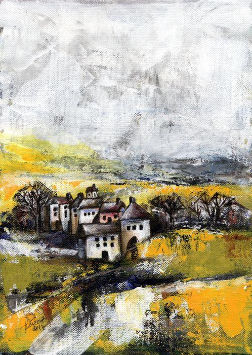 The pink house - Aniko Hencz art