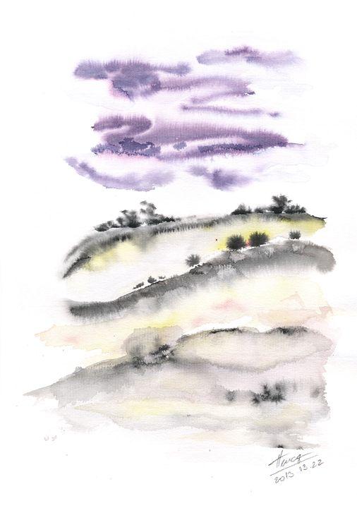 Purple clouds - Aniko Hencz art