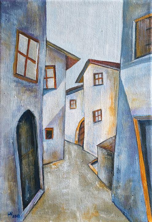 The old town - Aniko Hencz art