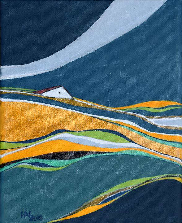 Distant house - Aniko Hencz art