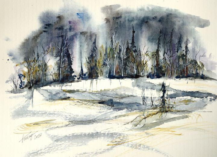 The snowy land - Aniko Hencz art