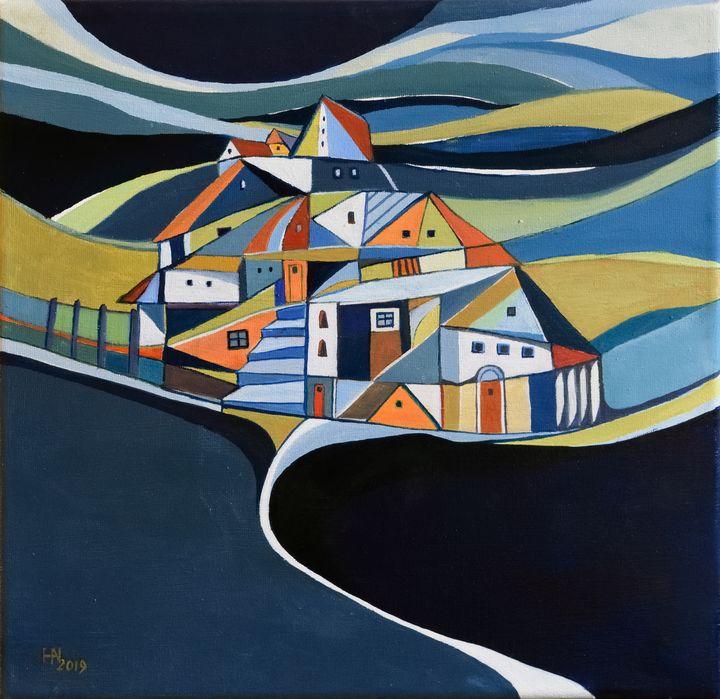 The hidden island - Aniko Hencz art