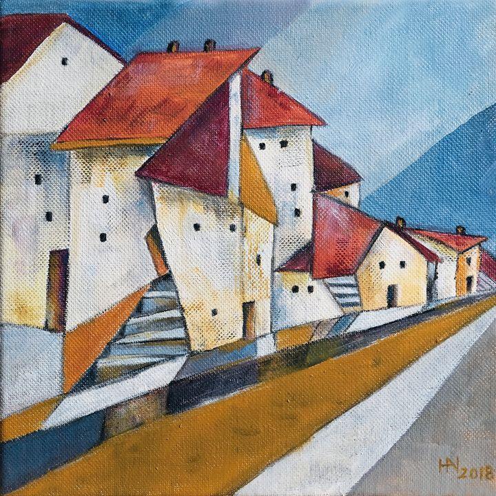 The edge of town - Aniko Hencz art
