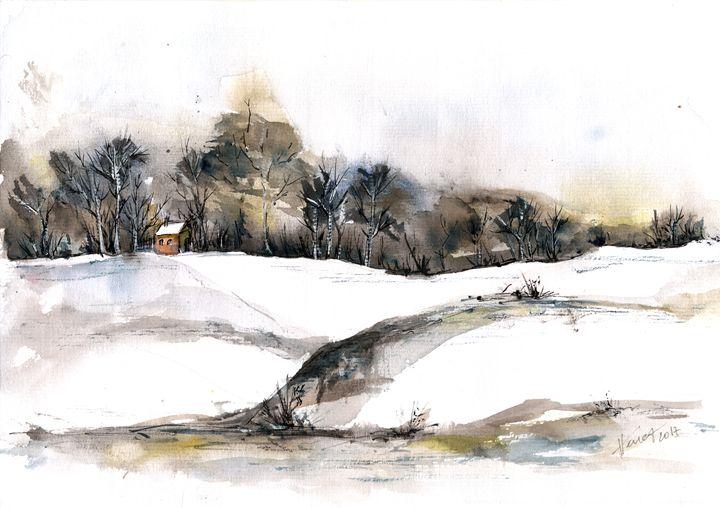 Early snow - Aniko Hencz art