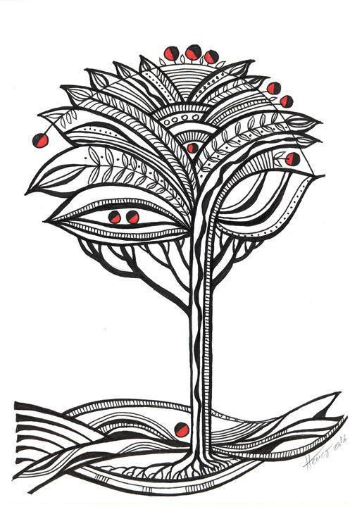 The apple tree - Aniko Hencz art