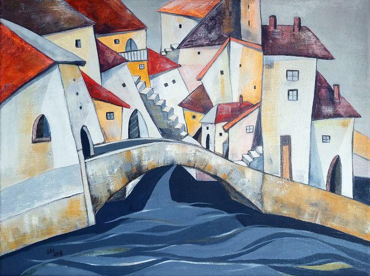 The stone bridge - Aniko Hencz art
