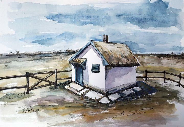 The shepherd's cottage - Aniko Hencz art