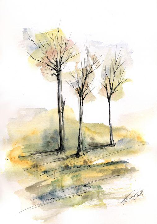 Autumn trees 6 - Aniko Hencz art