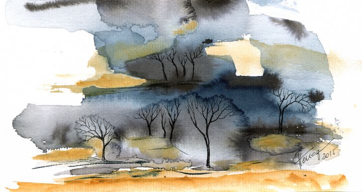 Trees in the wilderness - Aniko Hencz art