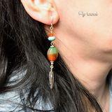 Silver earrings with brazilian agate