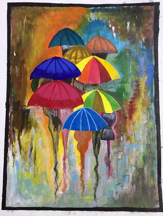 Rainy season(acrylic) - Deepika