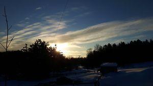 Winter Sunrise in Canada