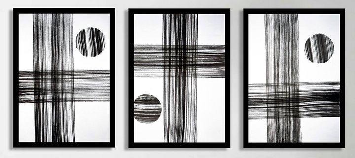 Triptych Untitled No. 83 - Art By Sumit Mehndiratta