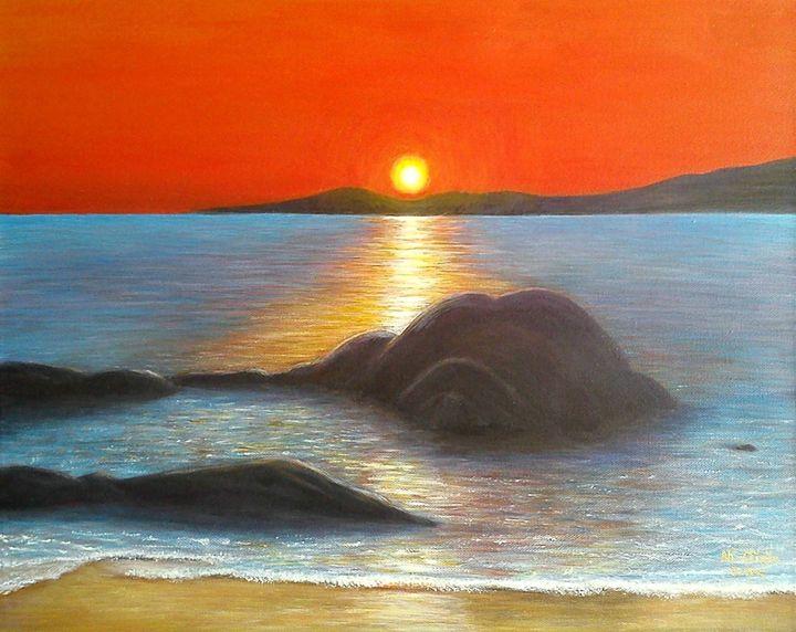 Sunset at Dog's Bay, Ireland -  Catherinehession