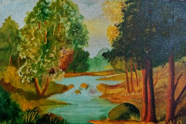 By the lake - Akshatha nagaraj
