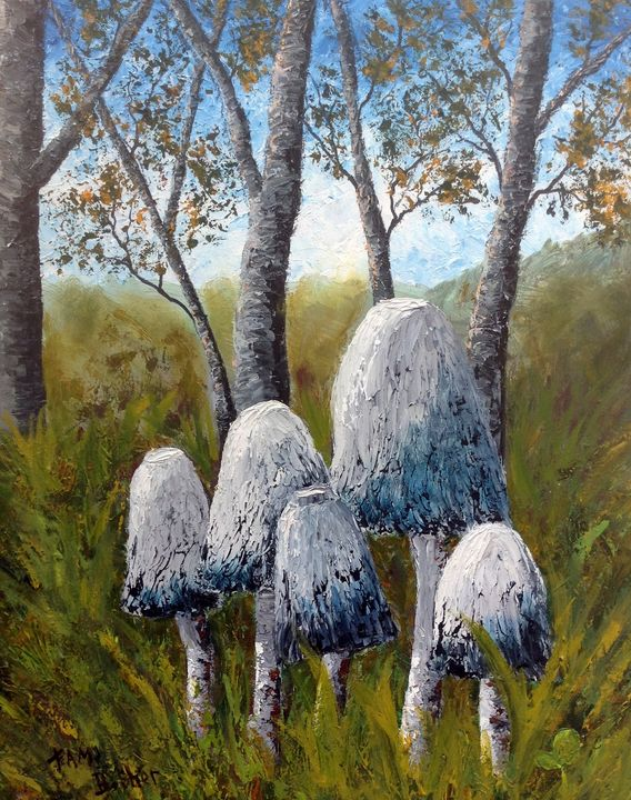Shroom Village - Tami Booher Appalachian Nature Painter