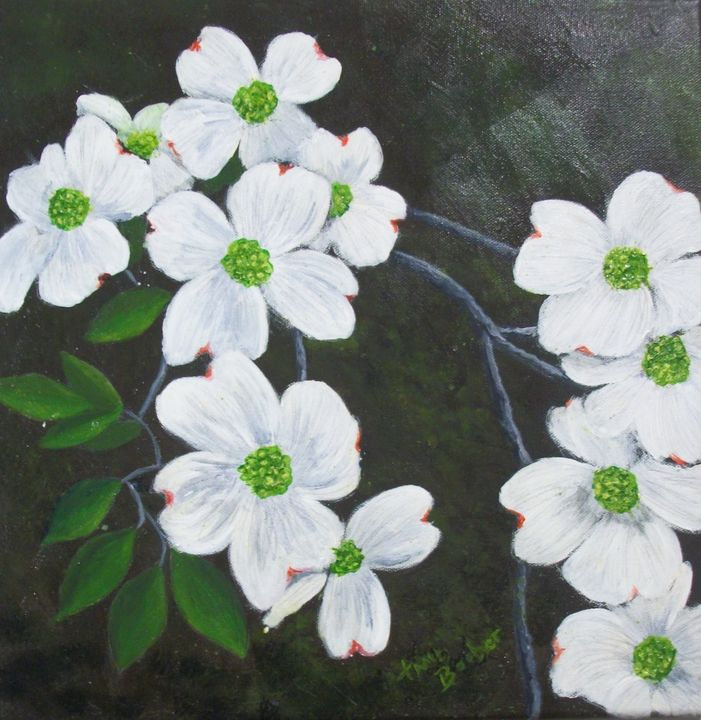 Dogwoods - Tami Booher Appalachian Nature Painter