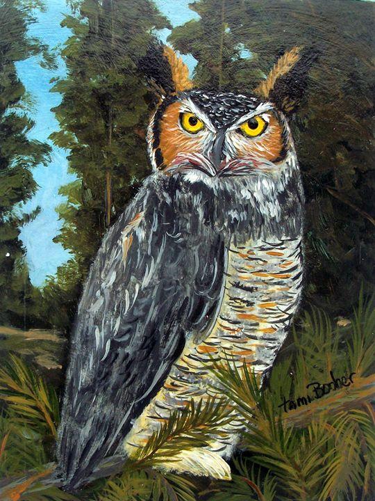 Owl - Tami Booher Appalachian Nature Painter