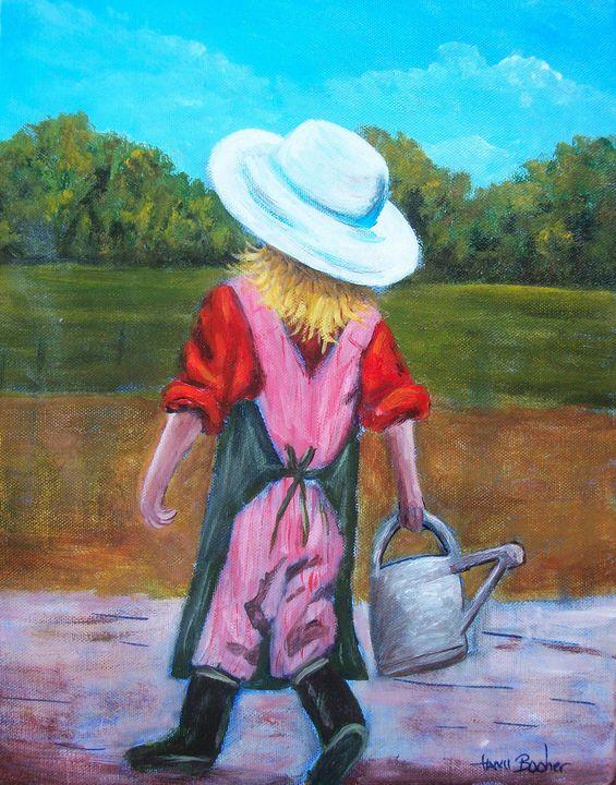 Farmer girl - Tami Booher Appalachian Nature Painter