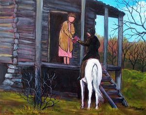 Horseback librarian